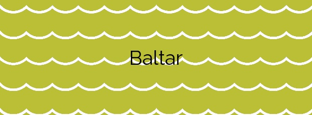Información de la Playa Baltar en Sanxenxo