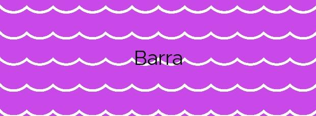 Información de la Playa Barra en Cangas