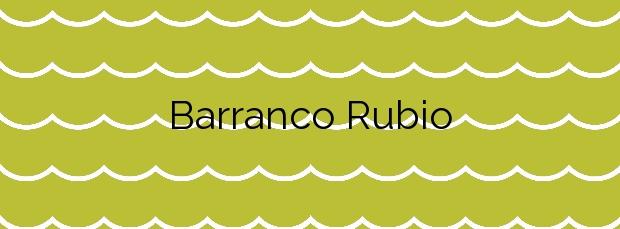 Información de la Playa Barranco Rubio en Orihuela