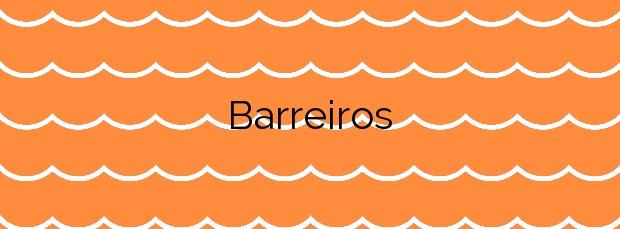 Información de la Playa Barreiros en Sanxenxo