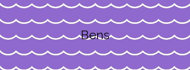 Información de la Playa Bens en A Coruña