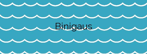 Información de la Playa Binigaus en Es Migjorn Gran