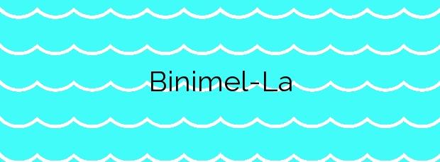 Información de la Playa Binimel-La en Es Mercadal