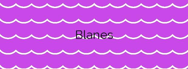 Información de la Playa Blanes en Blanes