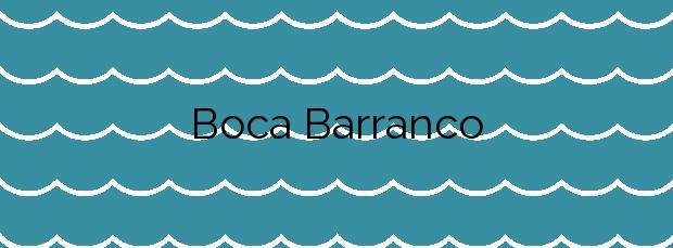 Información de la Playa Boca Barranco en Gáldar