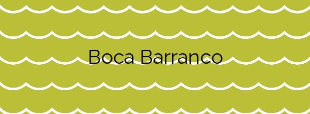 Información de la Playa Boca Barranco en Las Palmas de Gran Canaria
