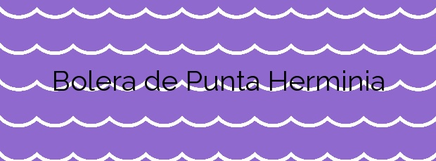 Información de la Playa Bolera de Punta Herminia en A Coruña