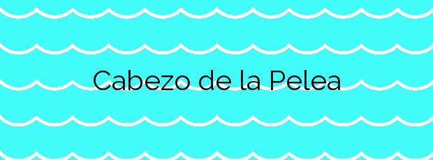 Información de la Playa Cabezo de la Pelea en Mazarrón