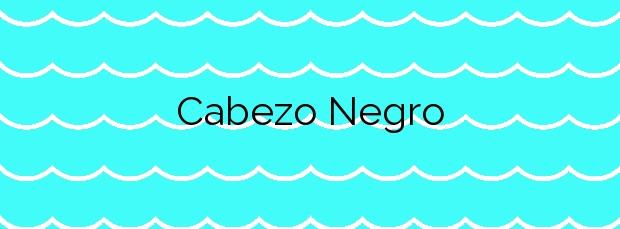 Información de la Playa Cabezo Negro en Cuevas del Almanzora
