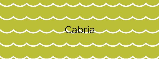 Información de la Playa Cabria en Almuñécar