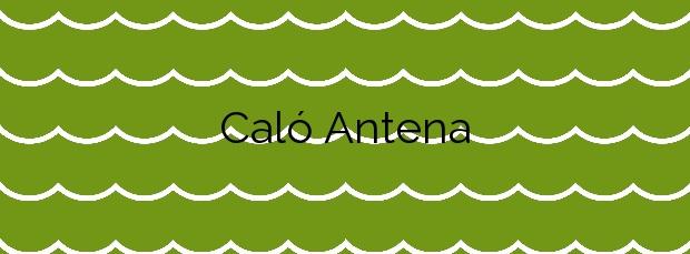 Información de la Playa Caló Antena en Manacor