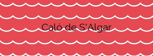 Información de la Playa Caló de S'Algar en Santa Eulalia del Río