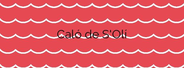Información de la Playa Caló de S'Olí en Formentera