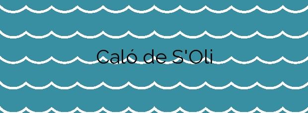 Información de la Playa Caló de S'Oli en Sant Josep de sa Talaia