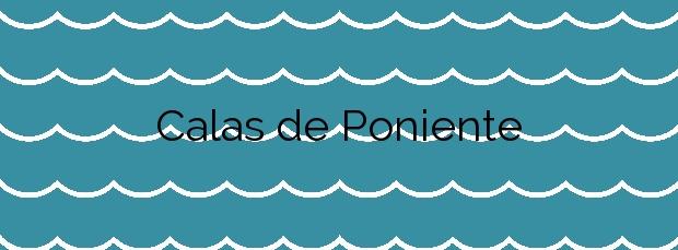 Información de la Playa Calas de Poniente en Conil de la Frontera