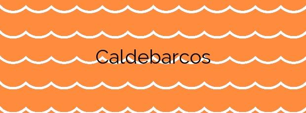 Información de la Playa Caldebarcos en Carnota