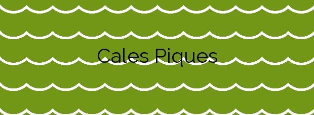 Información de la Playa Cales Piques en Ciutadella de Menorca