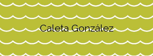 Información de la Playa Caleta González en Haría