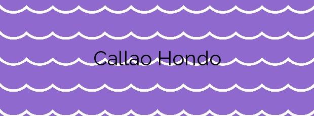 Información de la Playa Callao Hondo en Arico
