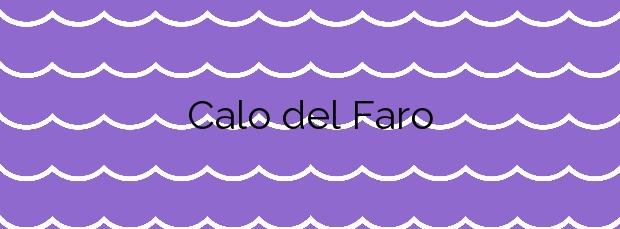 Información de la Playa Calo del Faro en Vigo
