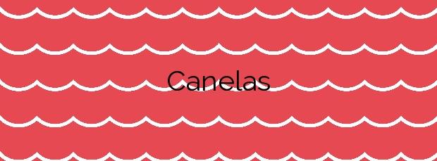 Información de la Playa Canelas en Sanxenxo