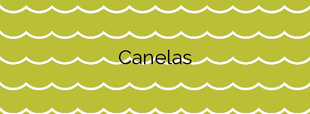 Información de la Playa Canelas en Vilagarcía de Arousa