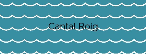 Información de la Playa Cantal Roig en Calp