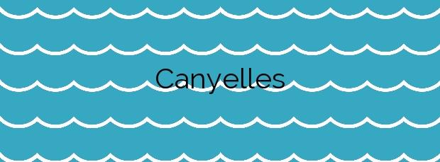 Información de la Playa Canyelles en Llançà