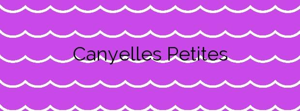 Información de la Playa Canyelles Petites en Roses