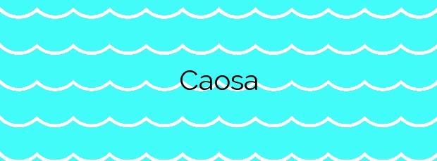 Información de la Playa Caosa en Cervo