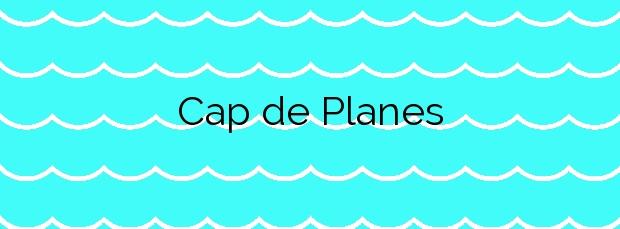 Información de la Playa Cap de Planes en Palamós