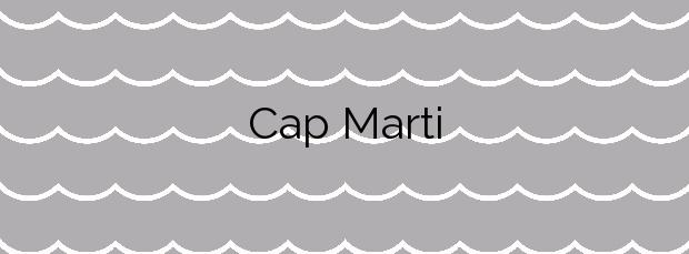 Información de la Playa Cap Marti en Xàbia