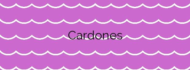 Información de la Playa Cardones en Arico