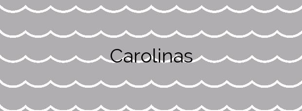 Información de la Playa Carolinas en Ribeira