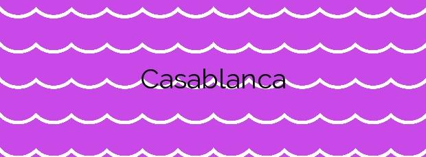 Información de la Playa Casablanca en Almenara