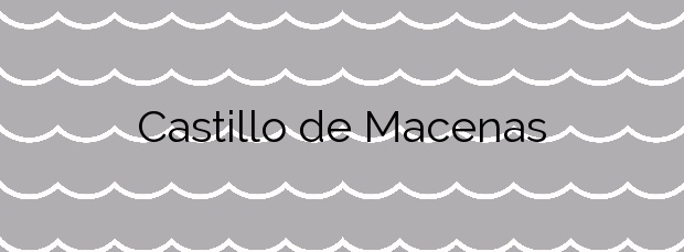 Información de la Playa Castillo de Macenas en Mojácar