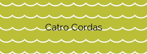Información de la Playa Catro Cordas en Vilanova de Arousa