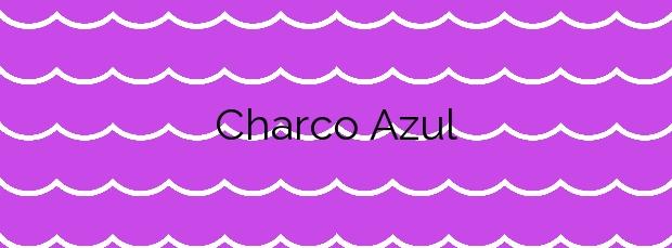 Información de la Playa Charco Azul en Frontera