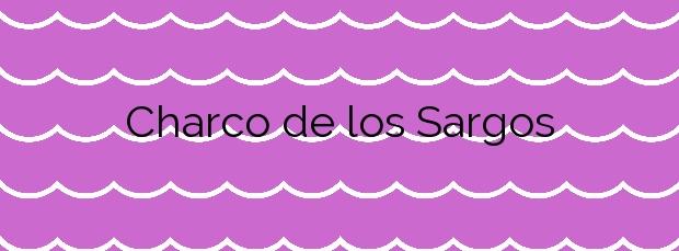 Información de la Playa Charco de los Sargos en Frontera