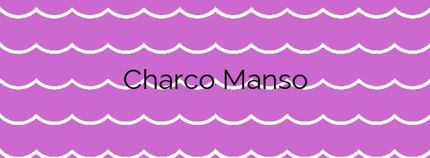 Información de la Playa Charco Manso en Valverde