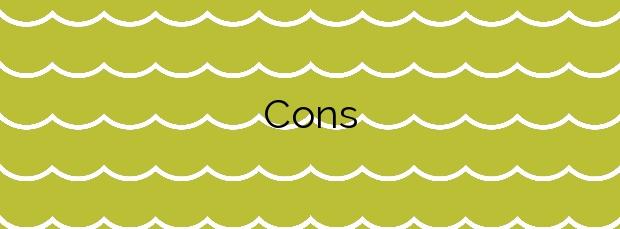 Información de la Playa Cons en Carnota