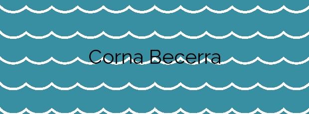 Información de la Playa Corna Becerra en Carnota