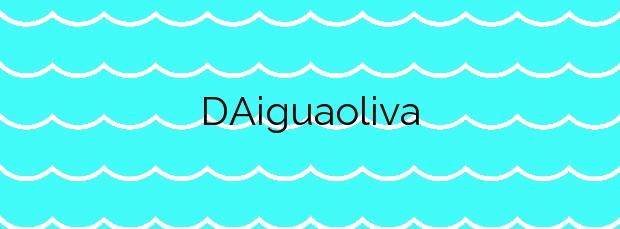 Información de la Playa D'Aiguaoliva en Vinaròs
