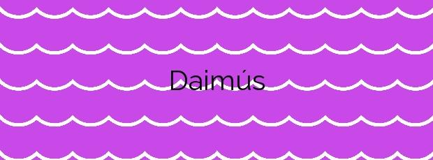 Información de la Playa Daimús en Daimús