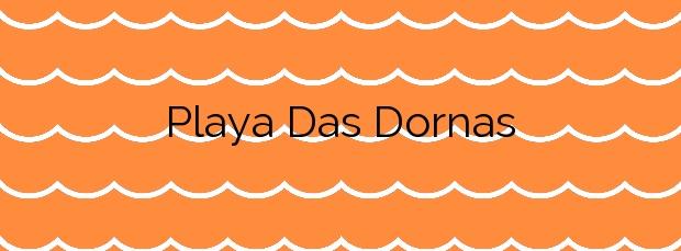 Información de la Playa Das Dornas en Bueu