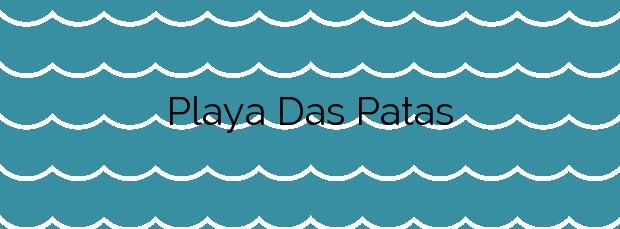 Información de la Playa Das Patas en Cangas
