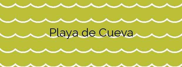 Información de la Playa de Cueva en Valdés