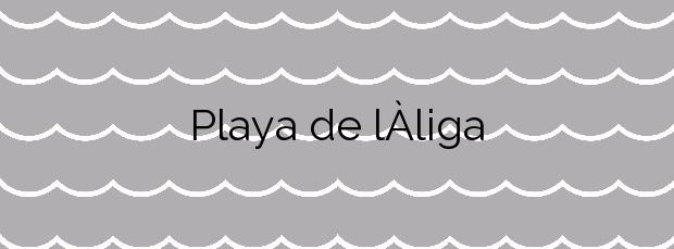 Información de la Playa de l'Àliga en El Perelló