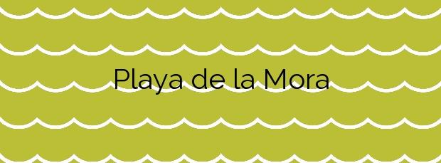 Información de la Playa de la Mora en Badalona