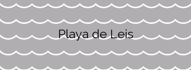 Información de la Playa de Leis en Muxía